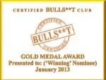 Gold Medal Award-January 2013