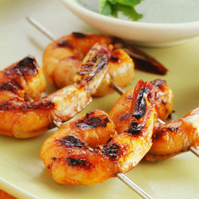 Barbecued Prawns!